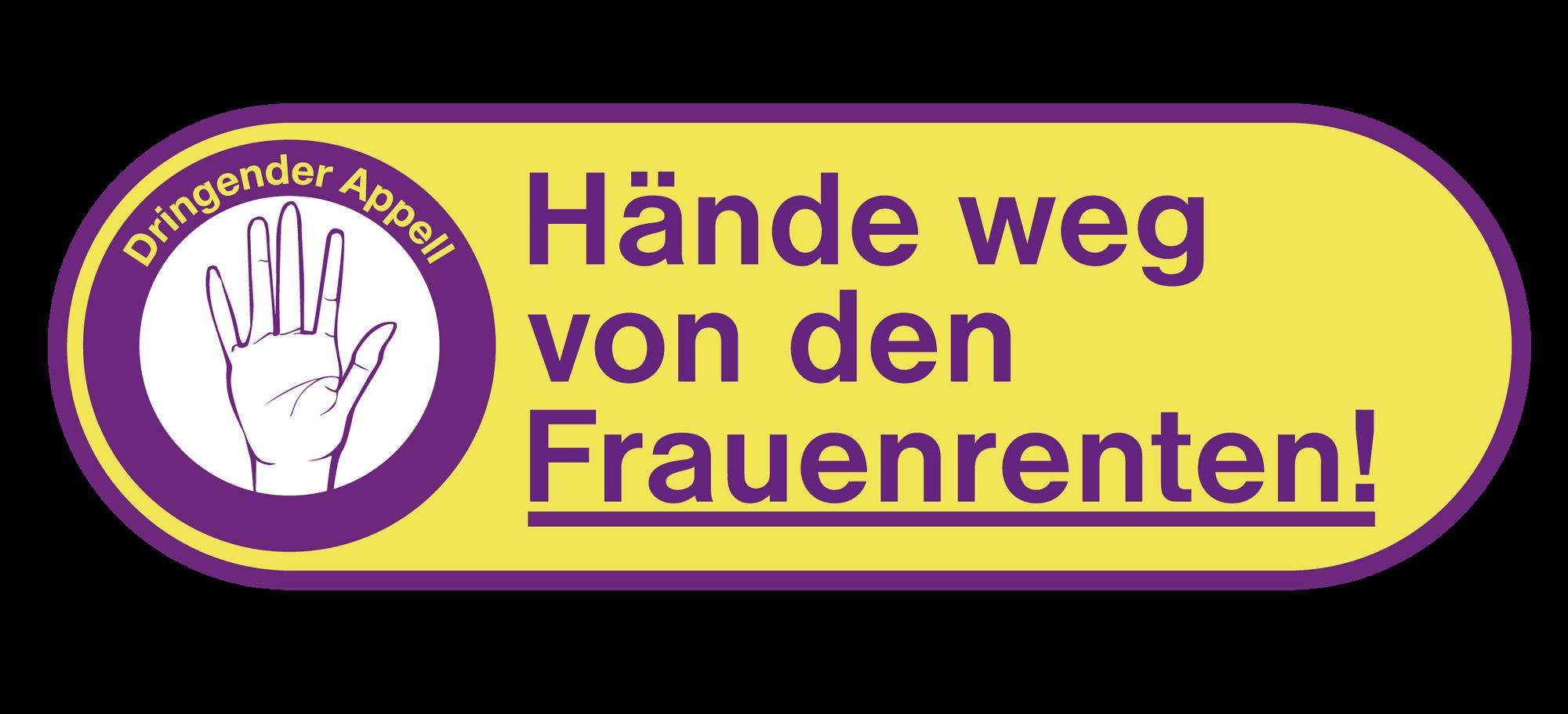 Hände weg von den Frauenrenten - Logo